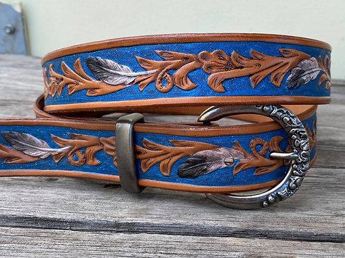 Blue Glitter Belt