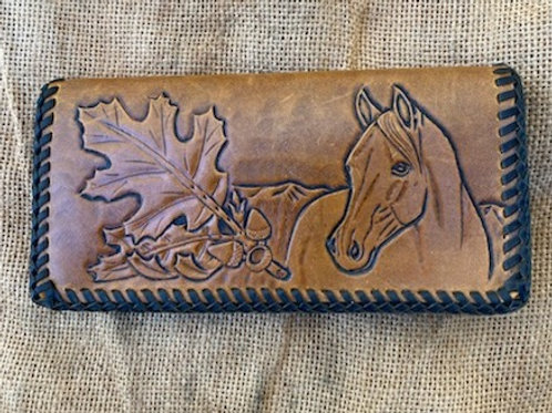 Tooled Wallet - Horse