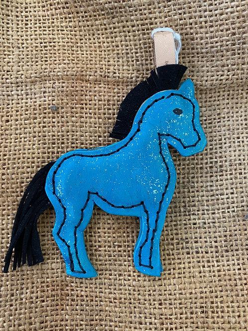 Horse Keyring - Blue