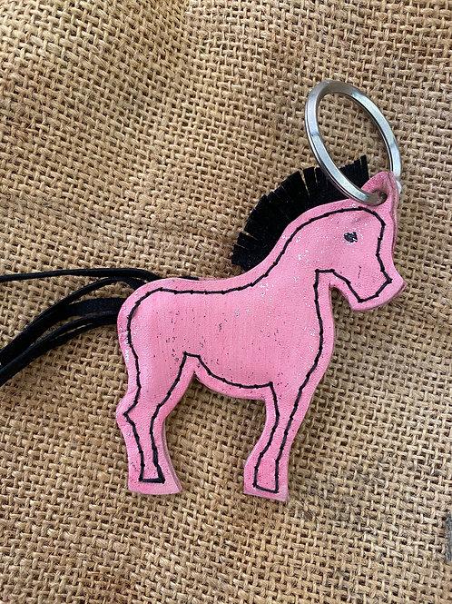 Horse Keyring - Pink