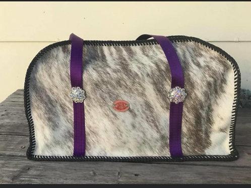Overnight Bag - Cowhide/ Purple