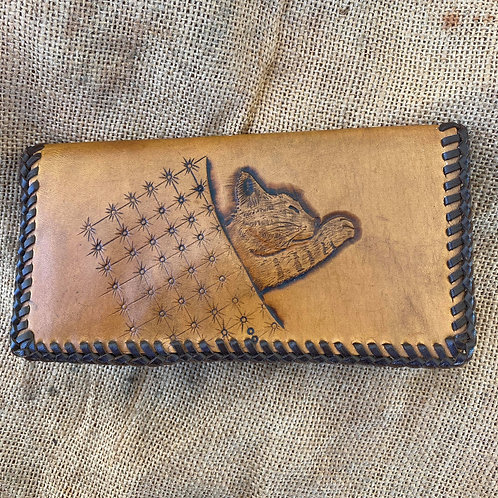 Tooled Wallet - Cat and Blanket