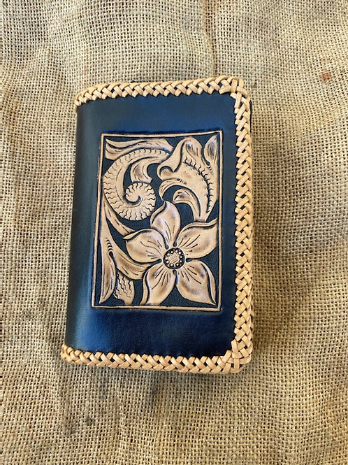 Tooled Wallet - Flowers