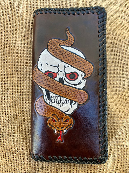Long Wallet - Skull and Snake