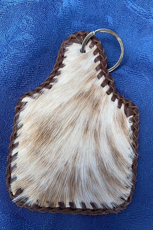 Large Cowhide Keyring - Brown