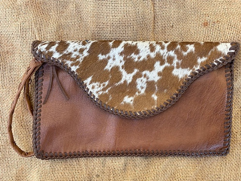 Clutch Bag with Cowhide