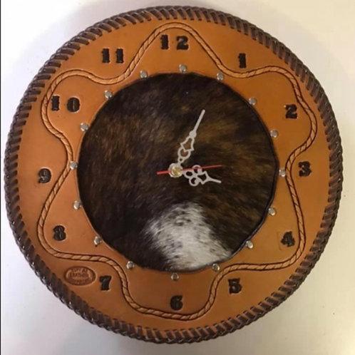 Cowhide Clock