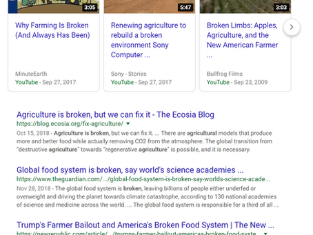 Agriculture is Broken - Part 1 - Production
