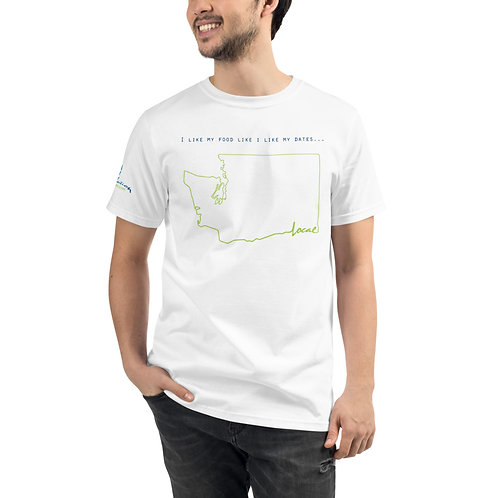 Unisex Organic - I like my Dates Local WA - Sleeve Logo