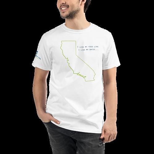 Local Dates Organic T-Shirt - CA