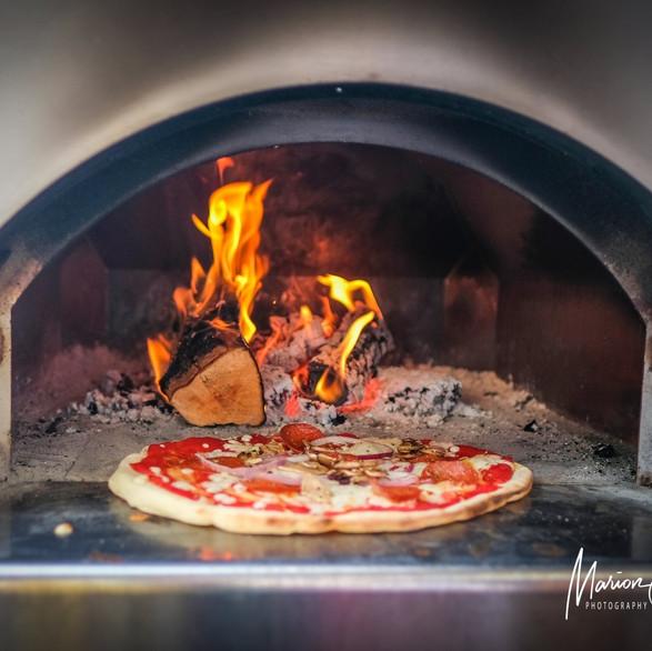 Uit de pizzaoven