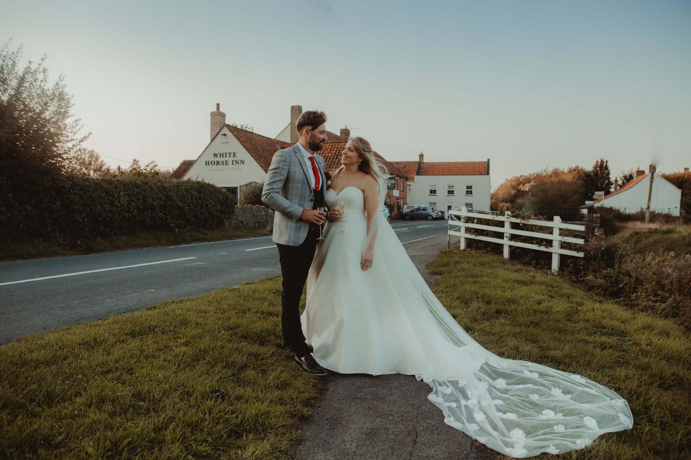 White Horse Inn Mark Somerset Country Pub Wedding