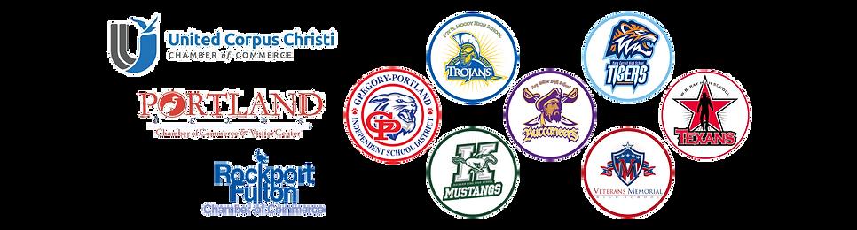 Community partners, including United Corpus Christi Chamber of Comerce, Portland Texas Chamber of Commerce, Rockport Fulton Chamber of Commerce,