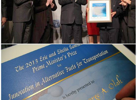 The first annual Samson Prize for alternative fuel innovation, 2013