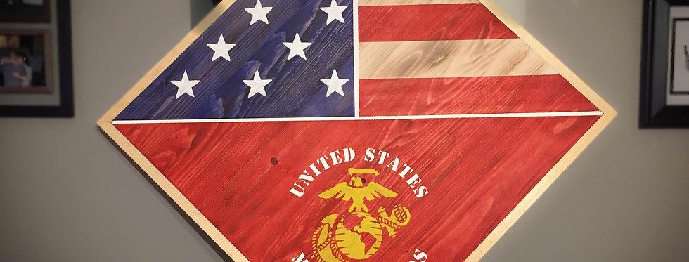 Rustic Marine Corp Tribute Flag