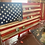 Thumbnail: Challenge Coin Display Rack-Holder.  Rustic American Flag