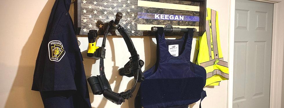 Thin Blue Line Police Gear Rack