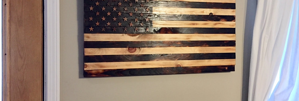 American Burned Flag