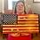 Thumbnail: Challenge Coin Display Rack-Holder.  Rustic American Flag
