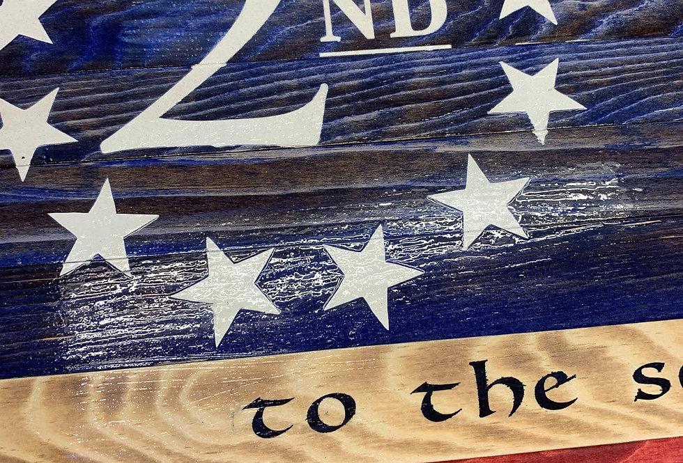 Rustic Second Amendment Flag