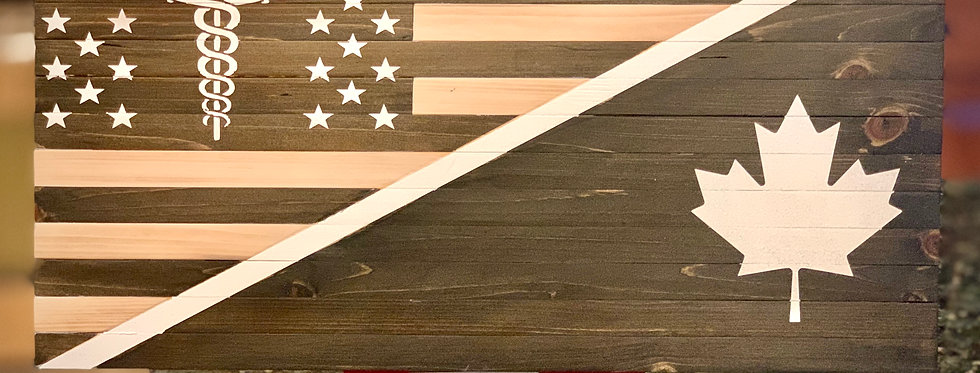 Rustic US/Canadian Medical Flag