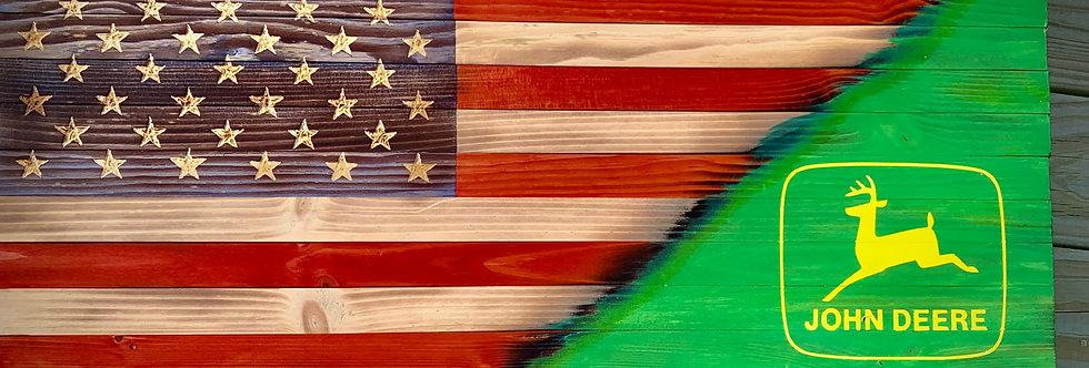 Rustic John Deere Flag