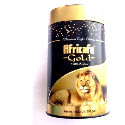 Africafe Gold Coffee Beans - 250 gram tin.