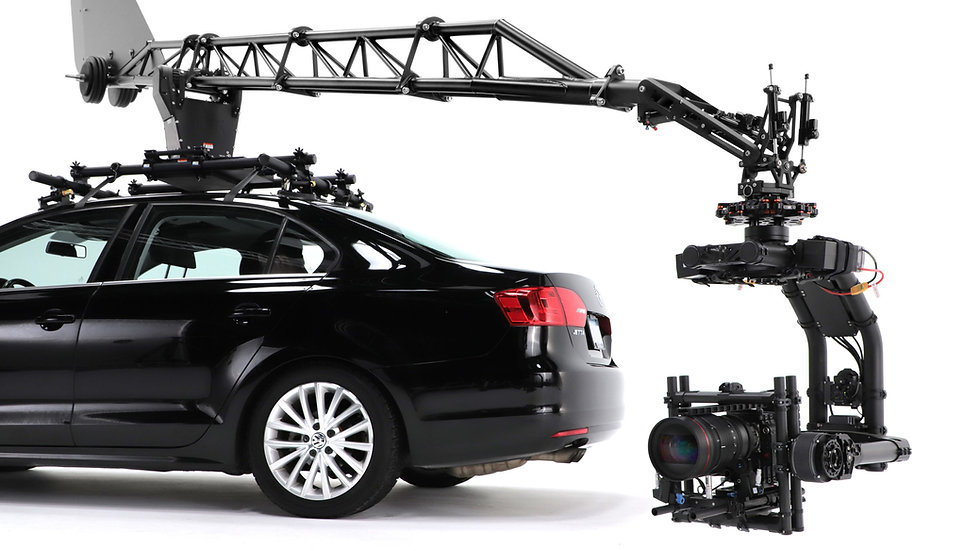 Treefort Los angles rent car camera crane swing pivot rotate rig kit turret boom base compact easy