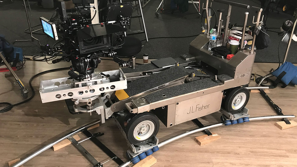Rental Los Angeles camera dolly kit complete track wheels rubber steady stable reliable movie equpiment