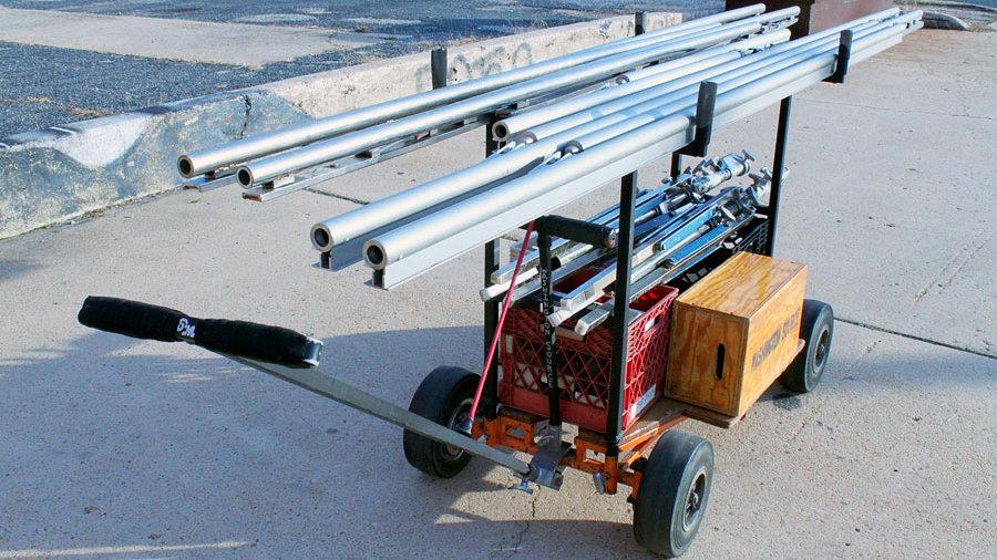 Rental Los Angeles Treefort aluminium rail track pieces kit compact build