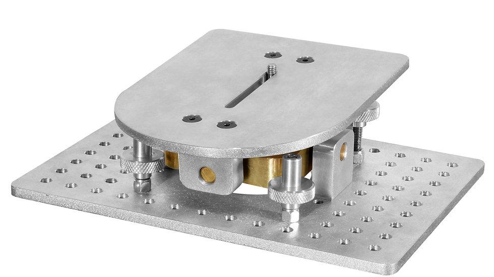 Rental Los Angeles camera level adjustable mount adapter Mitchel modern angled rotating 4 way aluminium