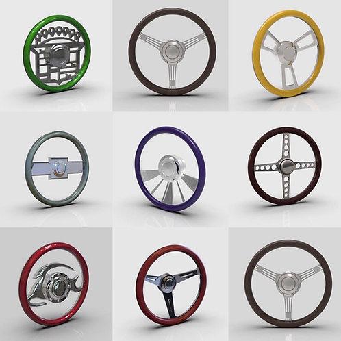 1:25 Two piece Steering wheels
