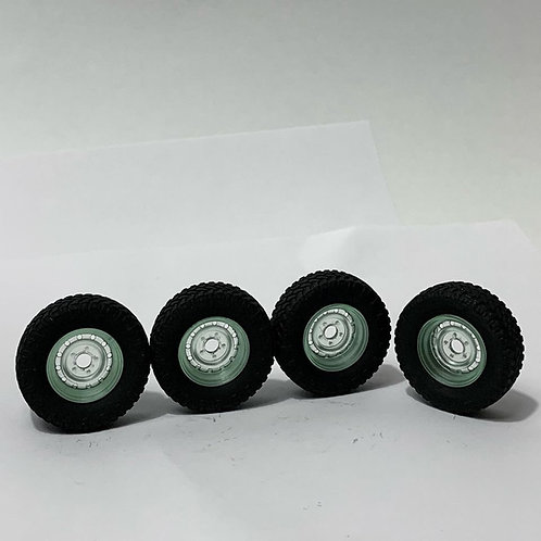 """1:64 Land Rover 16"""" steel wheels and tires now"""