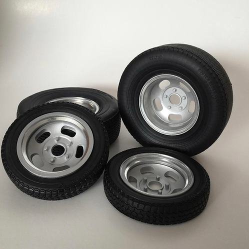 1:8 Ansen style two piece wheels (fronts and rears)