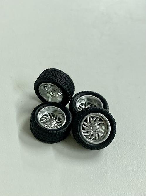 """1:64 26's Chromed """"Titan"""" Wheels"""