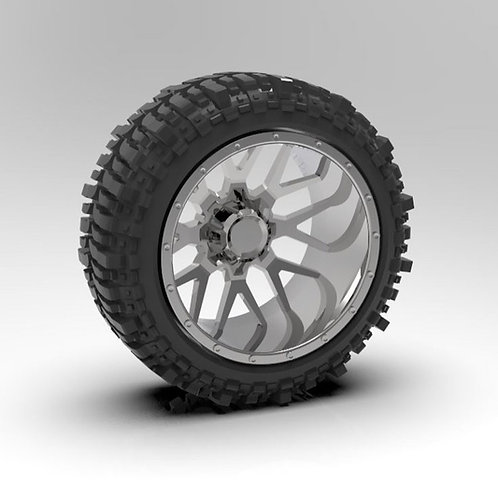 """1:24 """"Menace"""" Forge Wheels with Tires."""