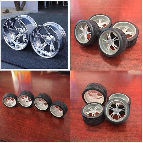 1:16 Schot Wheels with tires