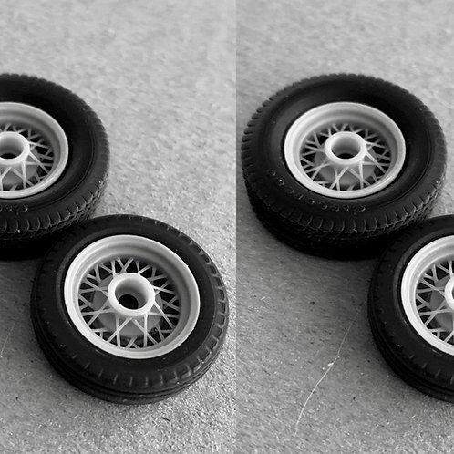 1:25 Wire Wheel Big and Little with dirt track/tractor rear tires
