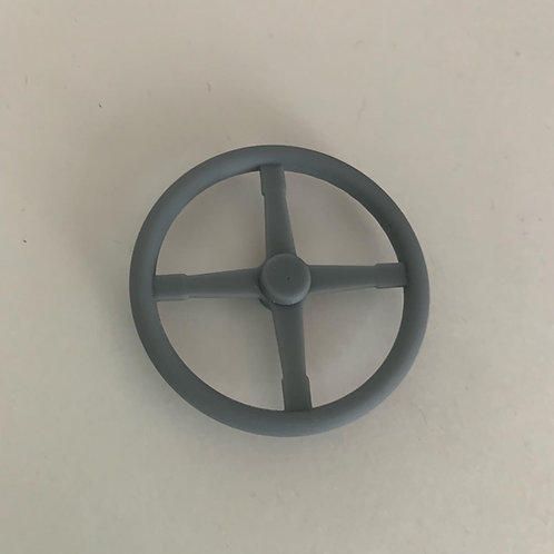 "1:10 17"" Bell four spoke steering wheel."
