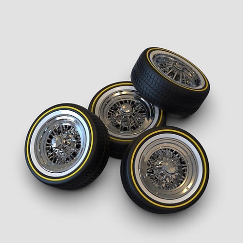 1:10 15's Crager Starwires on Vogue Rubber tires (12mm Hex Hub)