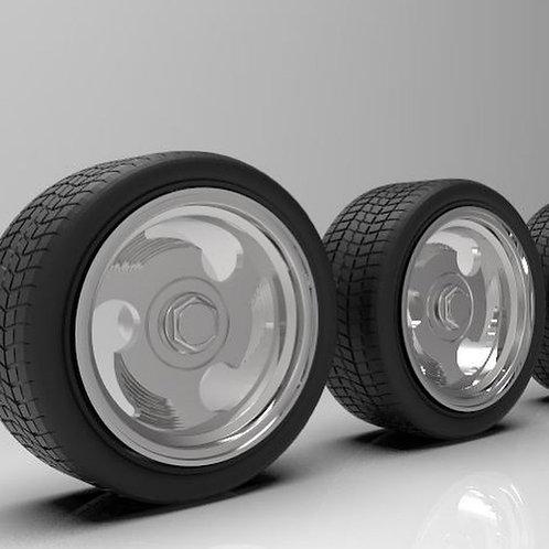 "1:25 26"" ""Ninja's"" Wheels with tires"