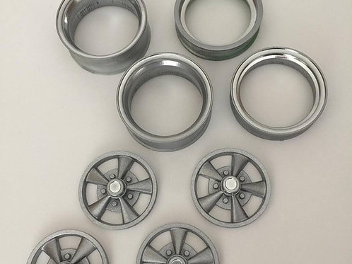 1:8 Crager style staggered wheel set