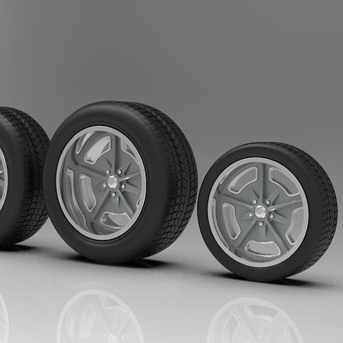 """1:20 """"Speedway"""" 20inch Wheels and Staggered Width Tires."""