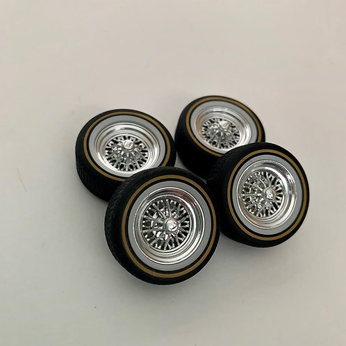 1:25 Crager Star Wire Wheels and Tires