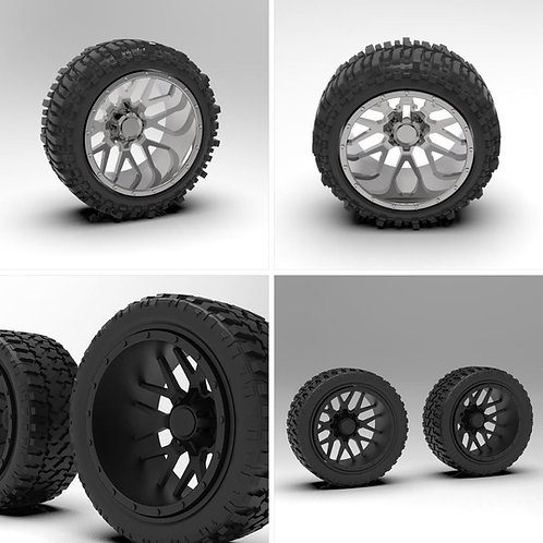 "1:18 ""Menace"" Forge Wheels with Standard or Bogger Tires"