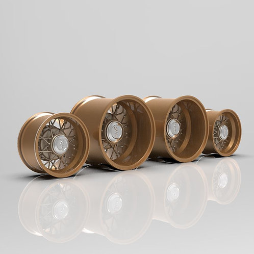 1:18 New Wire Muscle Machine Wheels (unchromed)