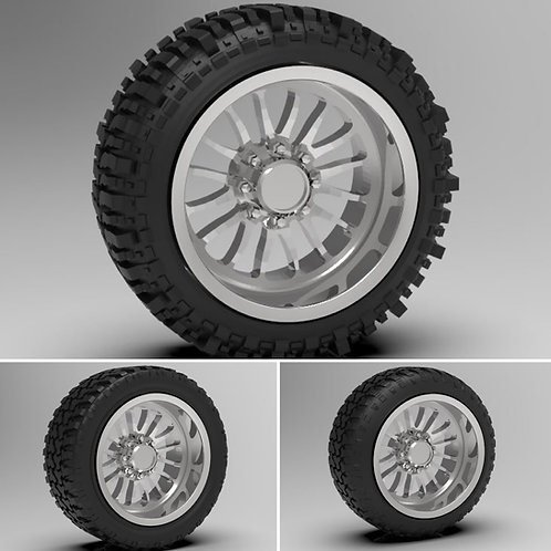 """1:24 """"Rebel"""" Forged Standard wheels with """"Bogger"""" """"standard"""" or """"stretched""""Tires"""