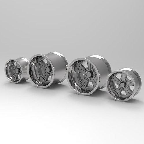 "1:18 ""Radir"" wheels for Muscle Machine Cars"