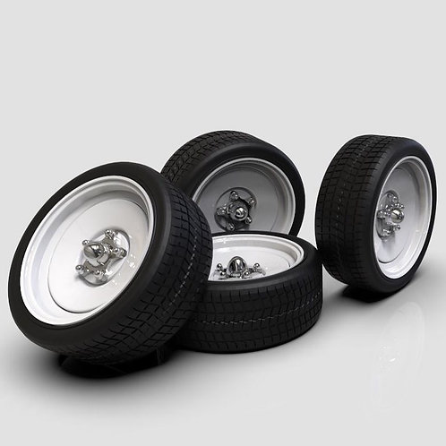 1:18 20x9 Steel wheel and tires