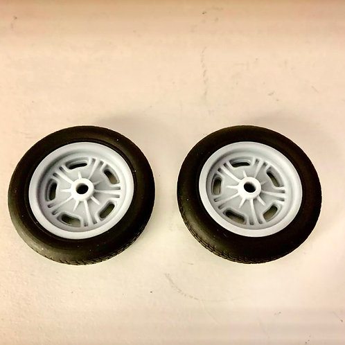 1:16 two Front Halibrand Spindle Mount Front Wheel And Tire Set Up